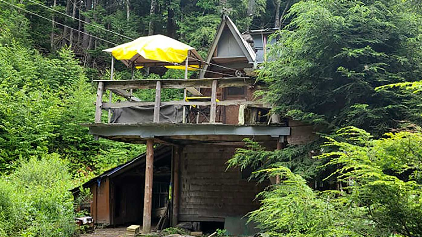 The shack David Lidstone built for himself in the New Hampshire wilderness.