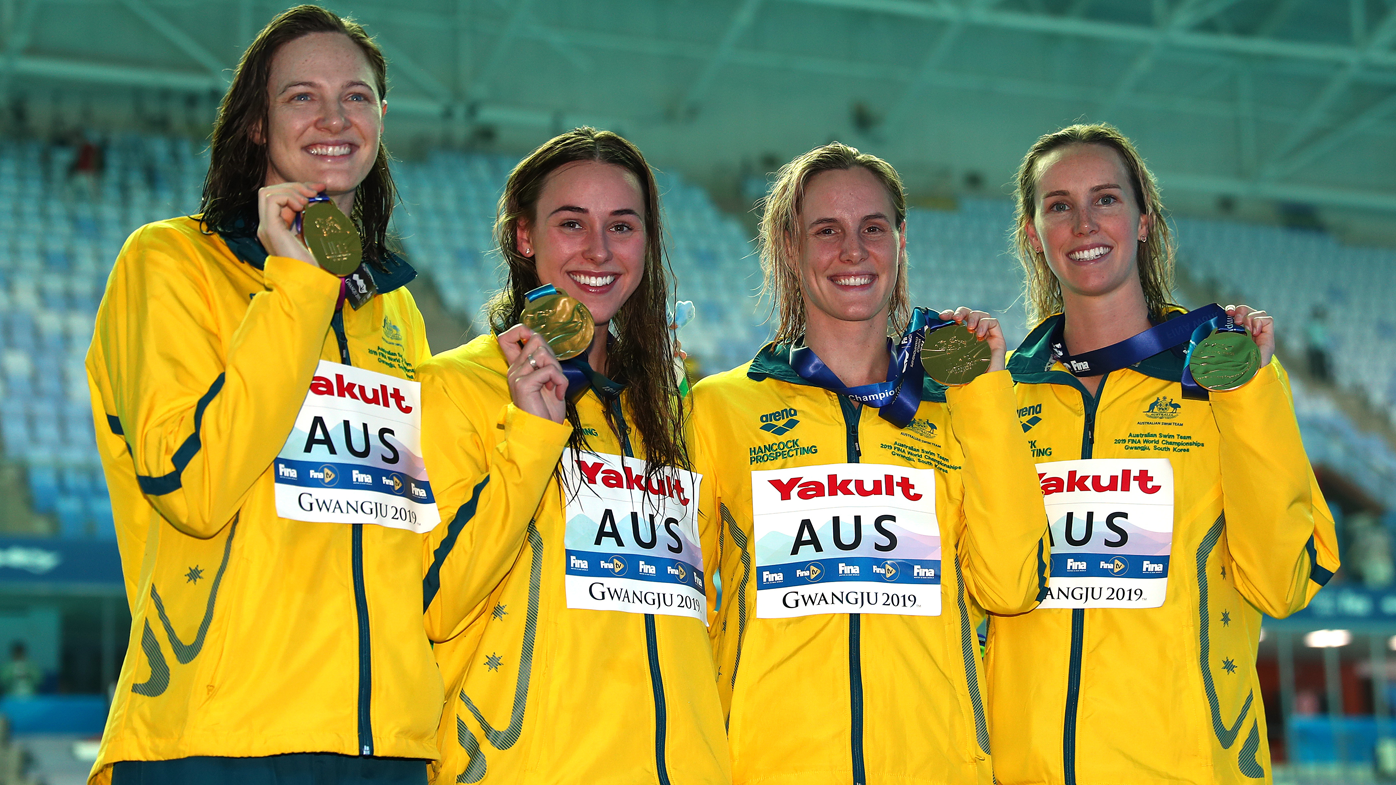 Australia's 4x100m freestyle relay team
