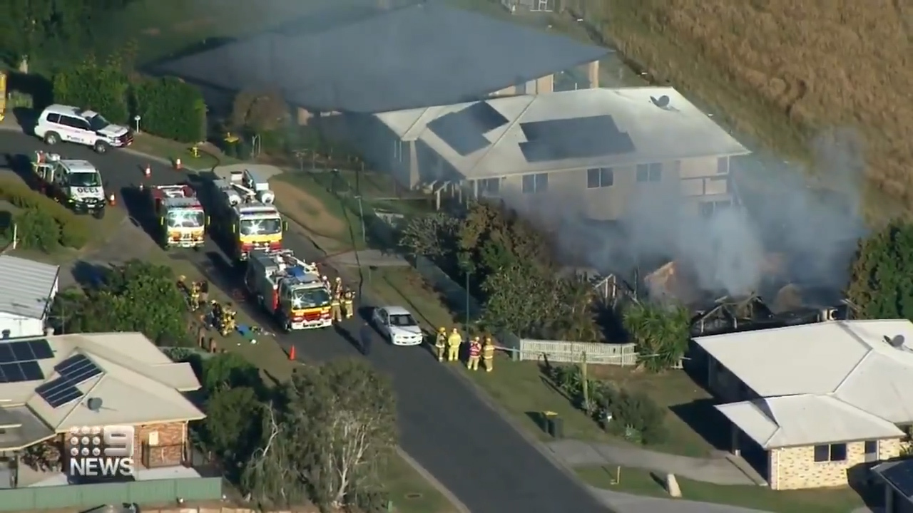 Fire crews prepare for grim search of burnt-out Queensland home