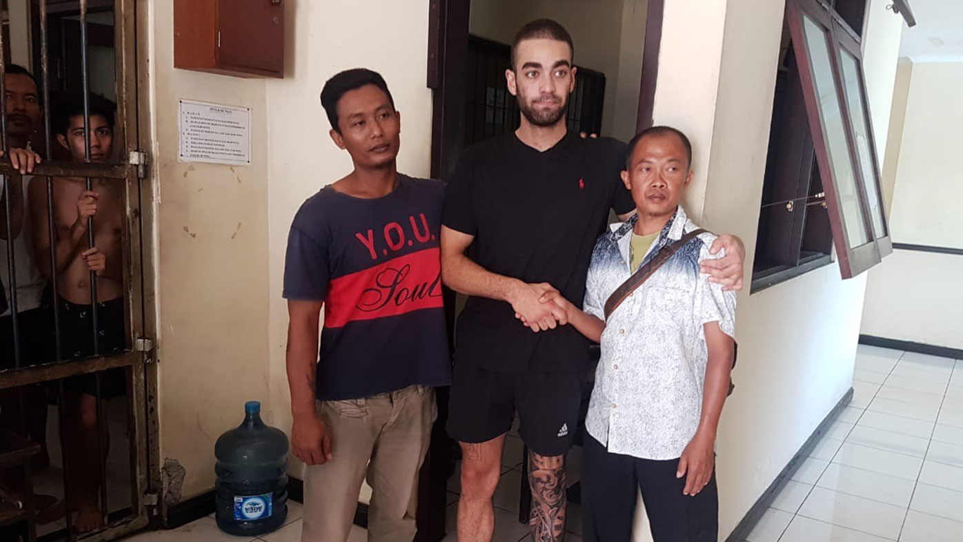 'A changed man': Aussie released from Bali jail after alleged cabbie bash