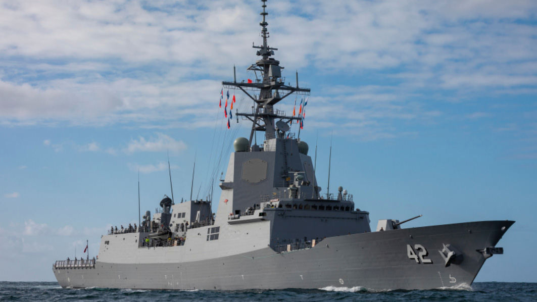 Royal Australian Navy ship finds two dead whales as it berths in the US
