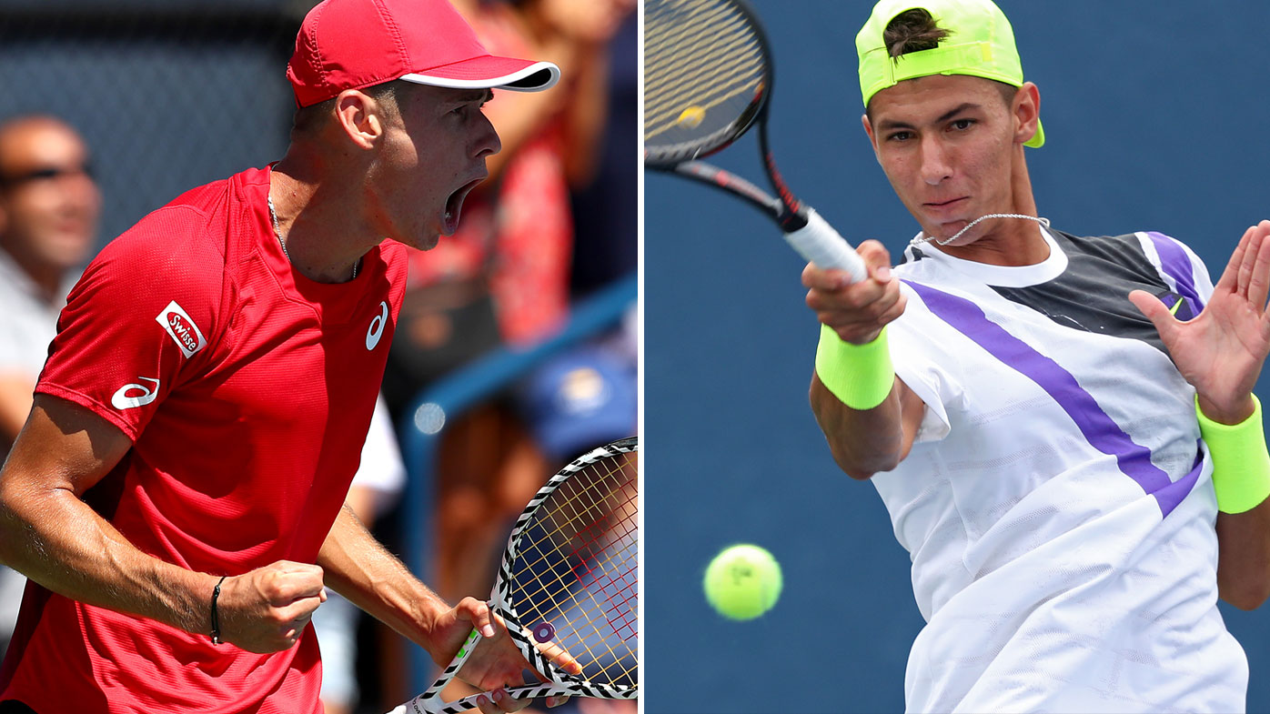 Aussies Alex de Minaur and Alexei Popyrin are into the third round of the US Open