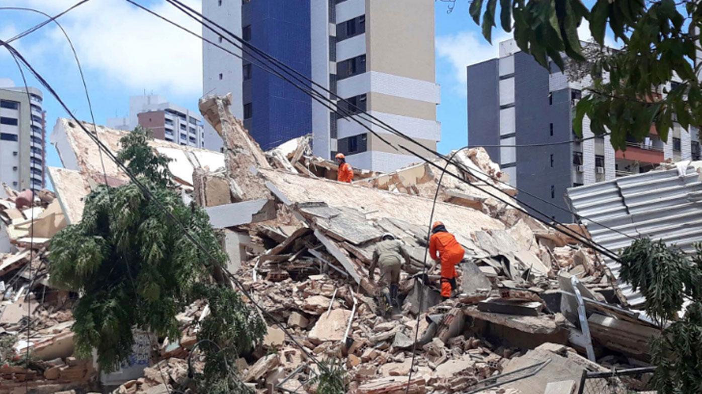 One dead, ten missing after seven storey apartment block collapses in Brazil