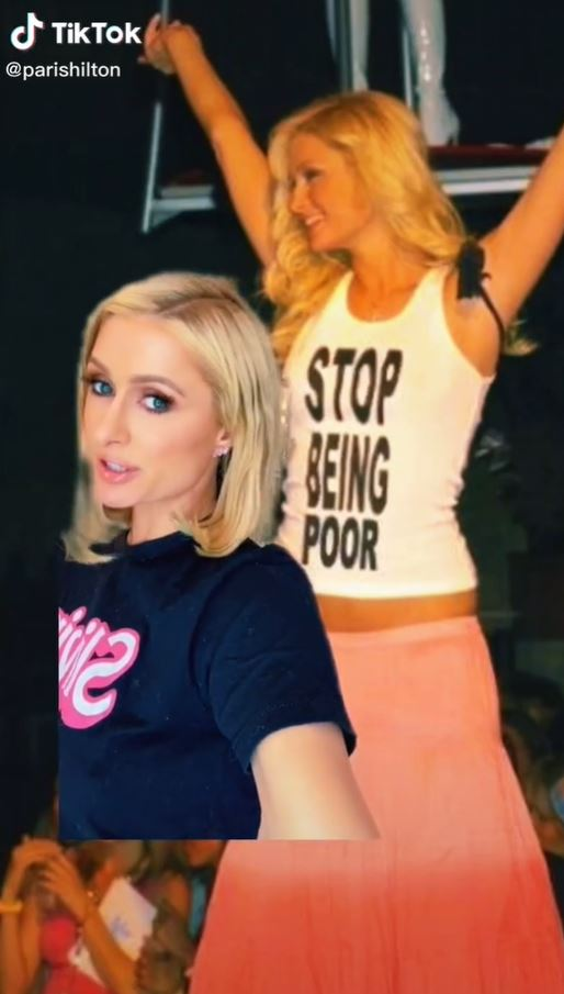 Paris Hilton revealed what her iconic shirt really said.
