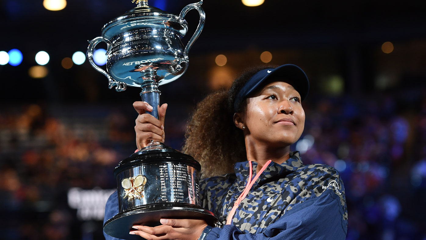 Naomi Osaka claims the 2021 Australian Open. (Getty)