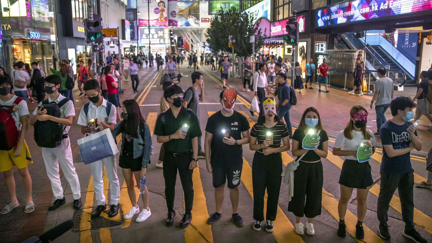 Hong Kong masked protests 2
