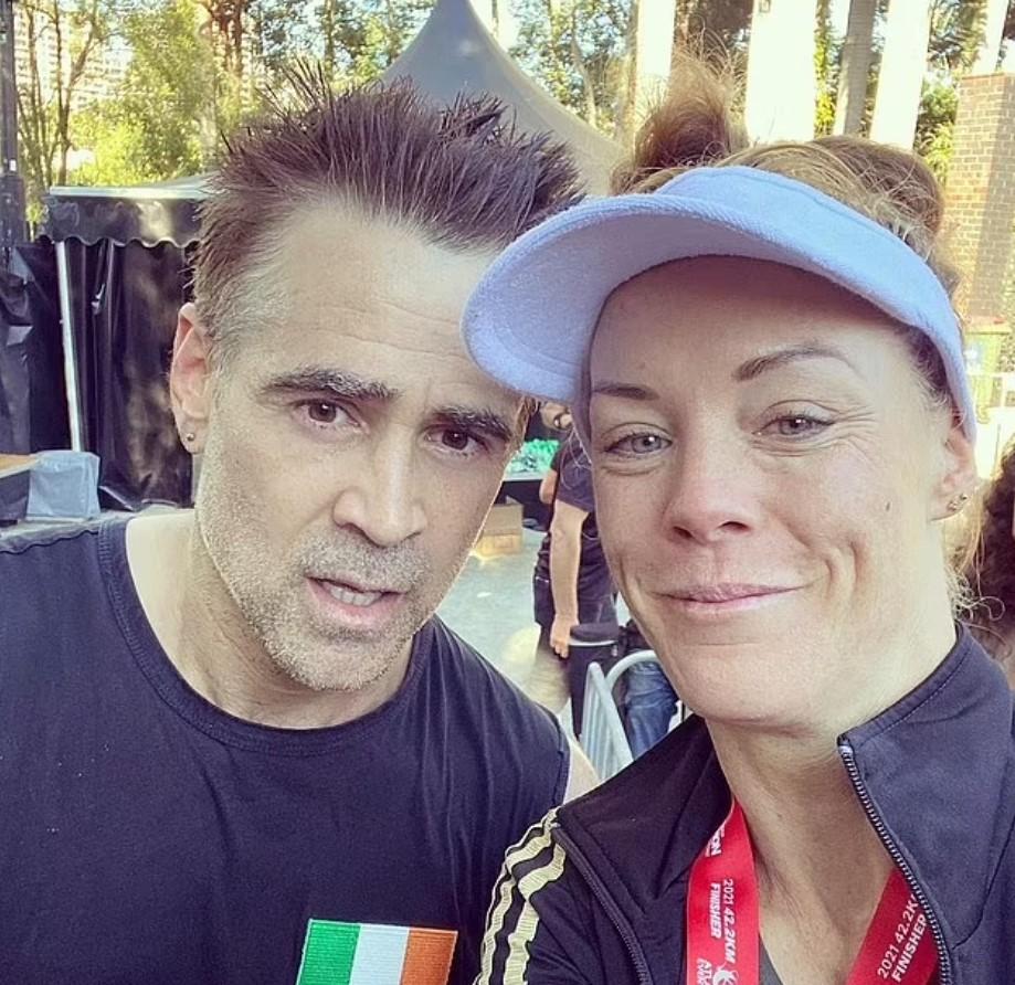Colin Farrell runs Brisbane Marathon.
