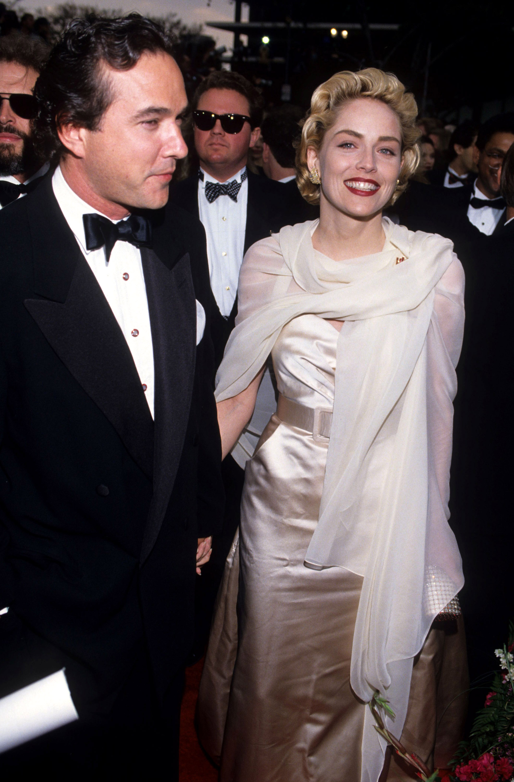 Bill MacDonald and Sharon Stone during 65th Annual Academy Awards at Shrine Auditorium in Los Angeles, California, United States. (Photo by Ke.Mazur/WireImage)