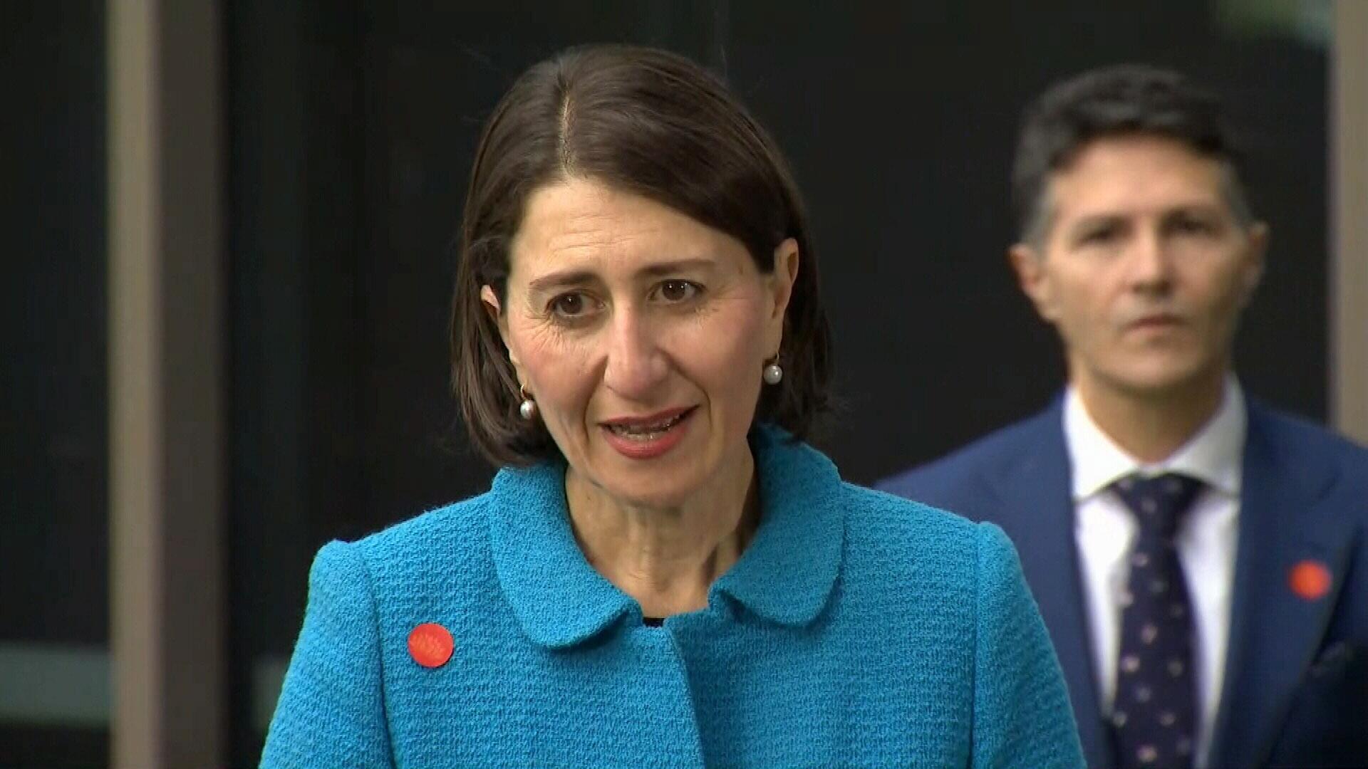 NSW premier Gladys Berejiklian speaking about the coronavirus situation on Thursday May 7, 2020.