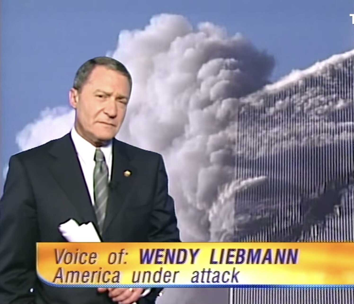 Steve Liebmann during the coverage of the September 11 attacks.