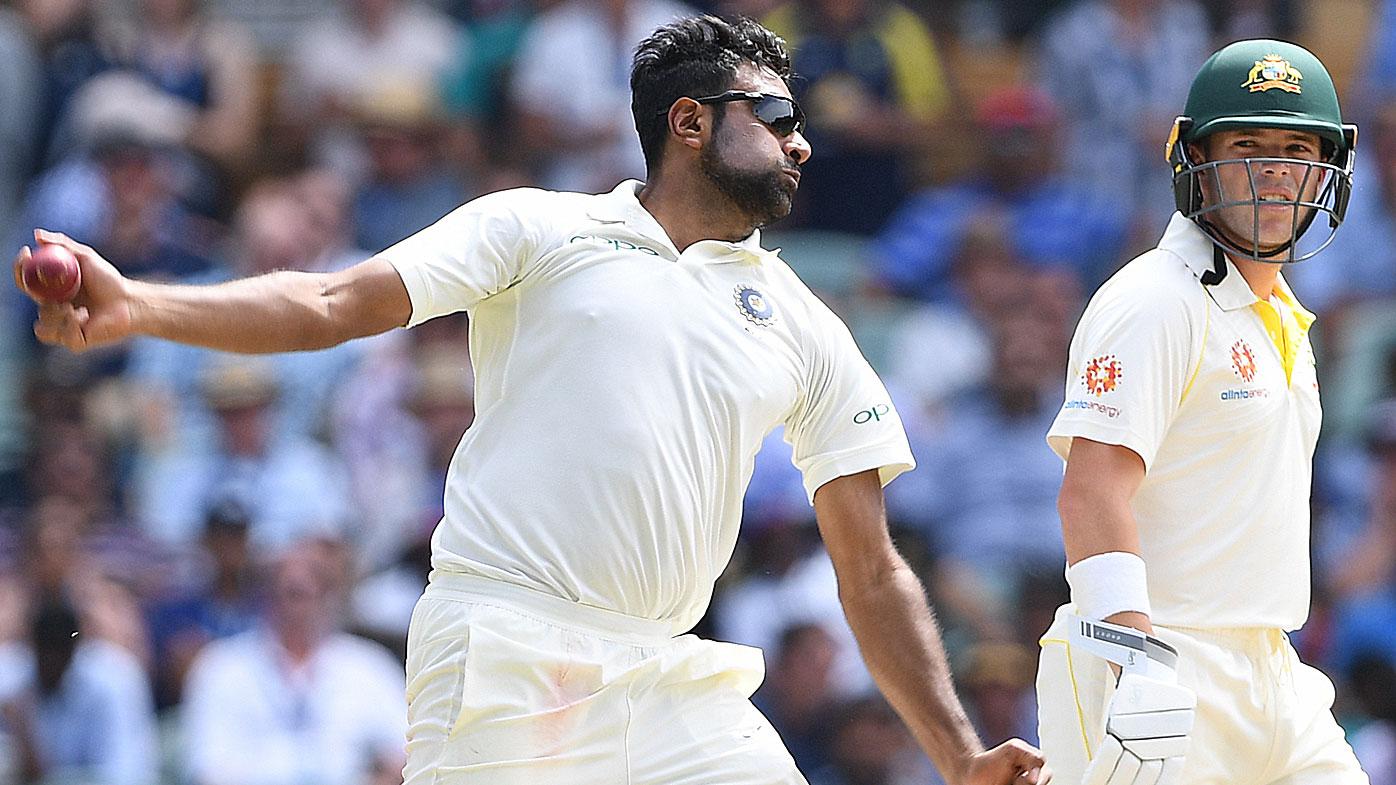 Ashwin bowling for India