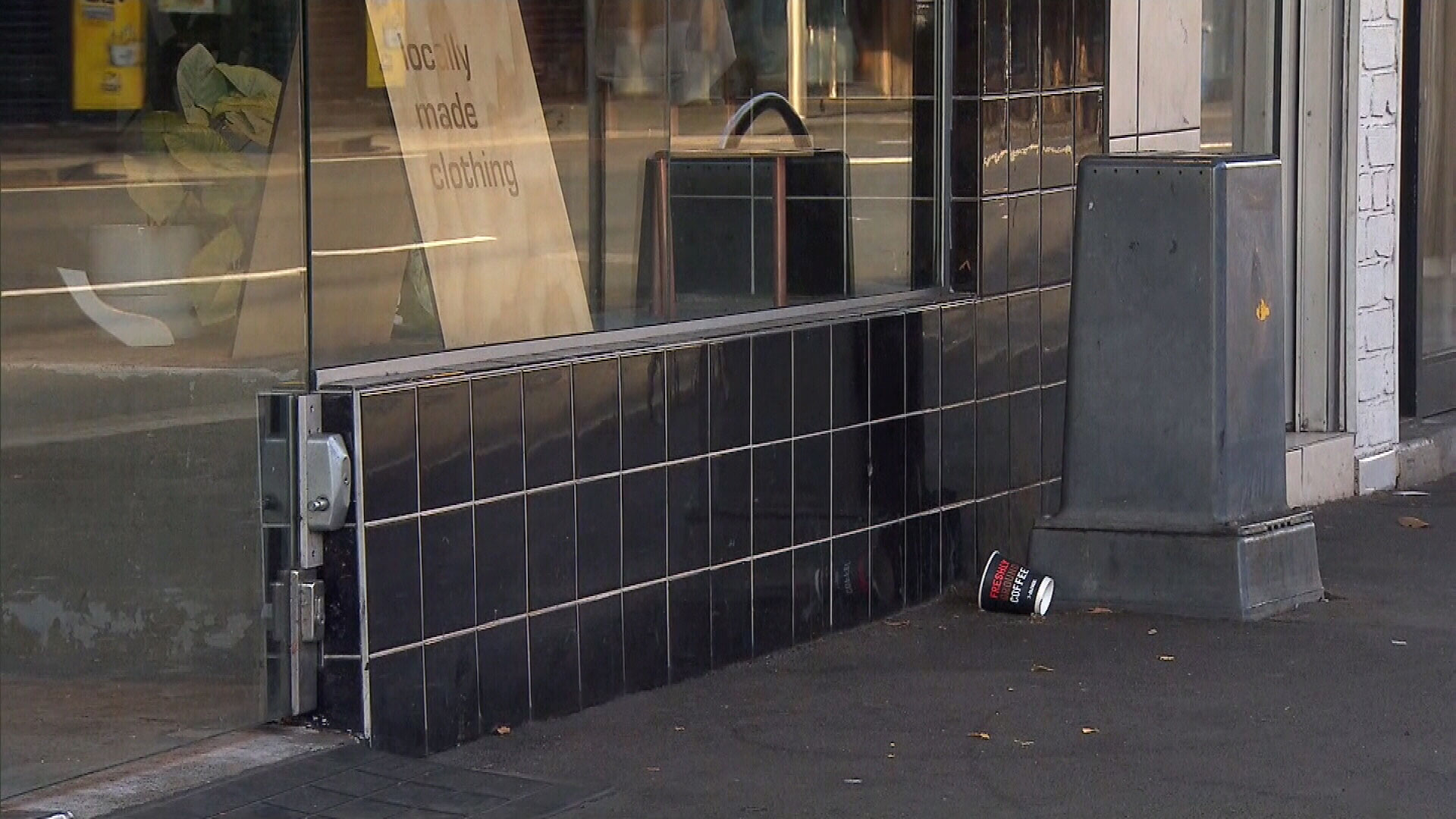 A retired nurse has had her arm broken in three places during a viscous assault on King Street in Newtown, Sydney, on Tuesday.