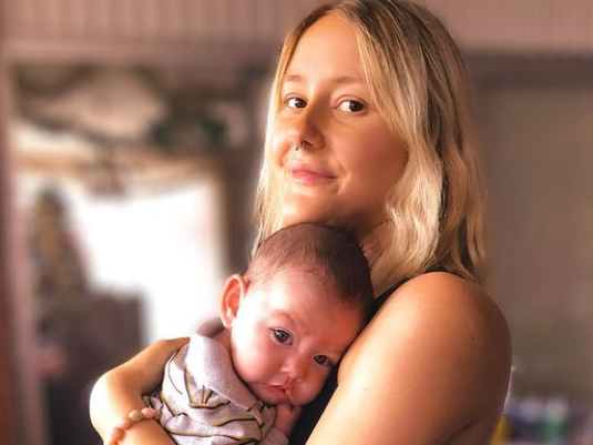 Emma Drummond\, who has a form of cancer, with her son Charlie.