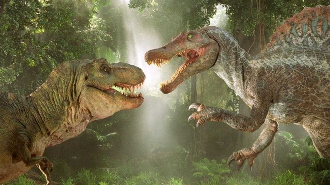 The spinosaurus featured prominently in the film Jurassic Park 3.