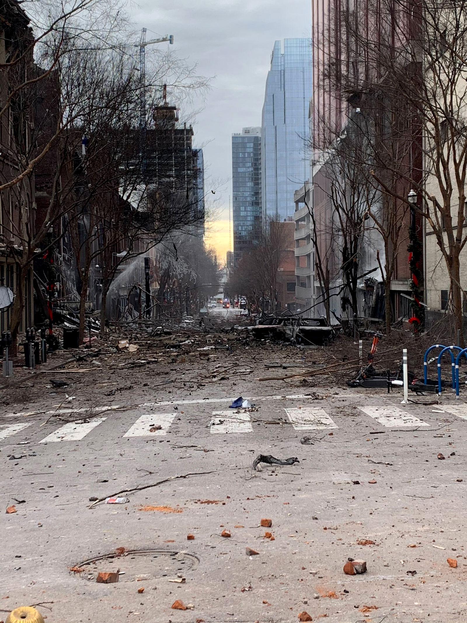 The aftermath of the Nashville bomb.