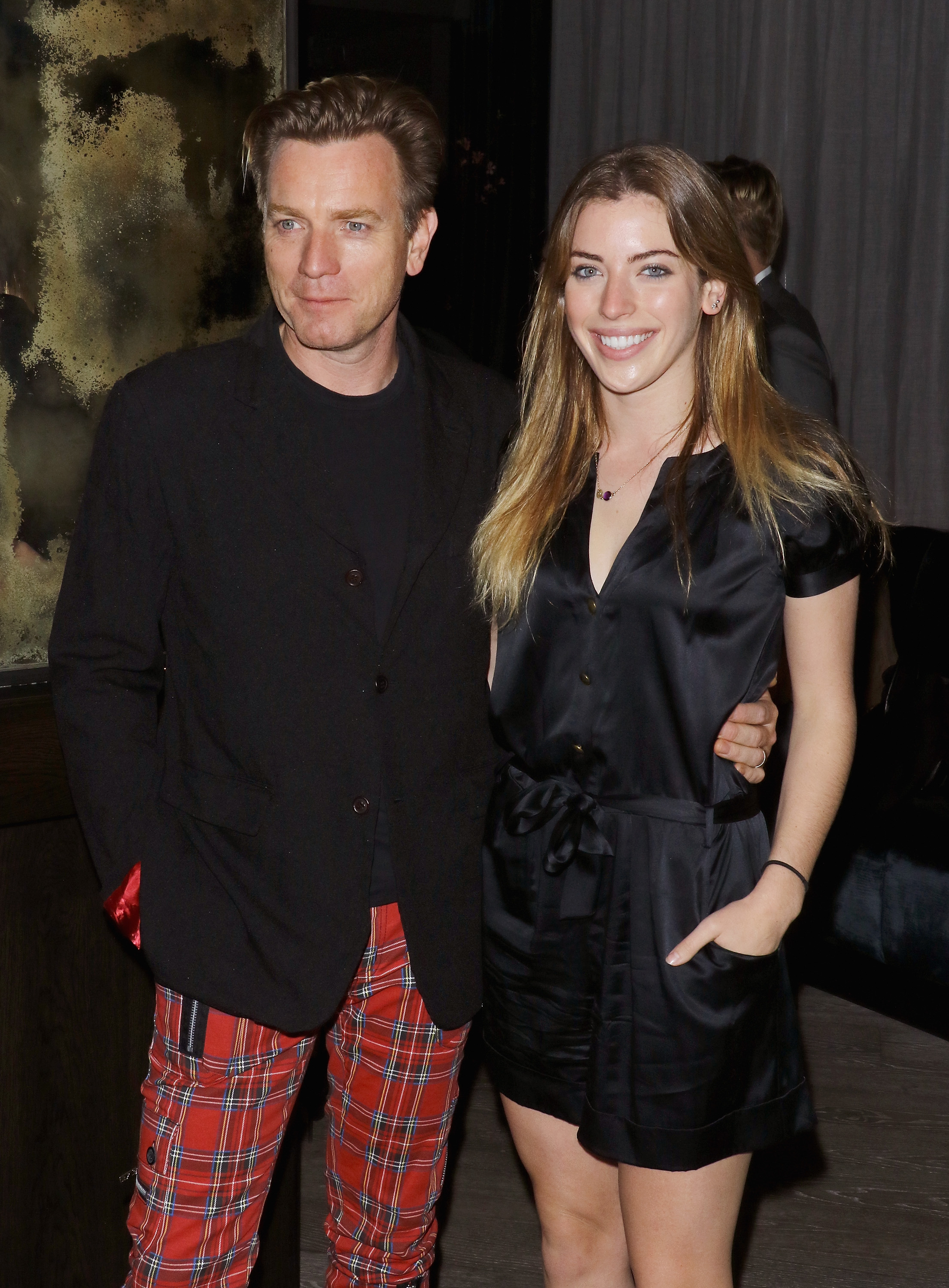 """Ewan McGregor and daughter Clara attend The Cinema Society with Ketel One and Robb Report host a screening of Sony Pictures Classics' """"Miles Ahead"""" after party at The Blond at 11 Howard Hotel on March 23, 2016 in New York City."""