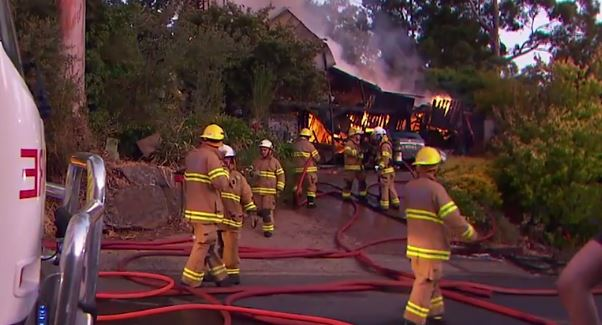 It took 38 firefighters to control the blaze and stop it impacting neighboring houses.