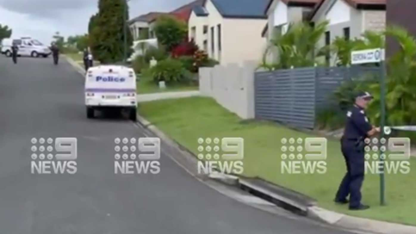 Police cordon off a Gold Coast street.