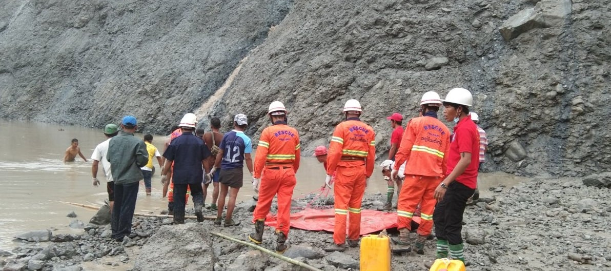 At least 120 dead after landslide sinks jade mine in Myanmar