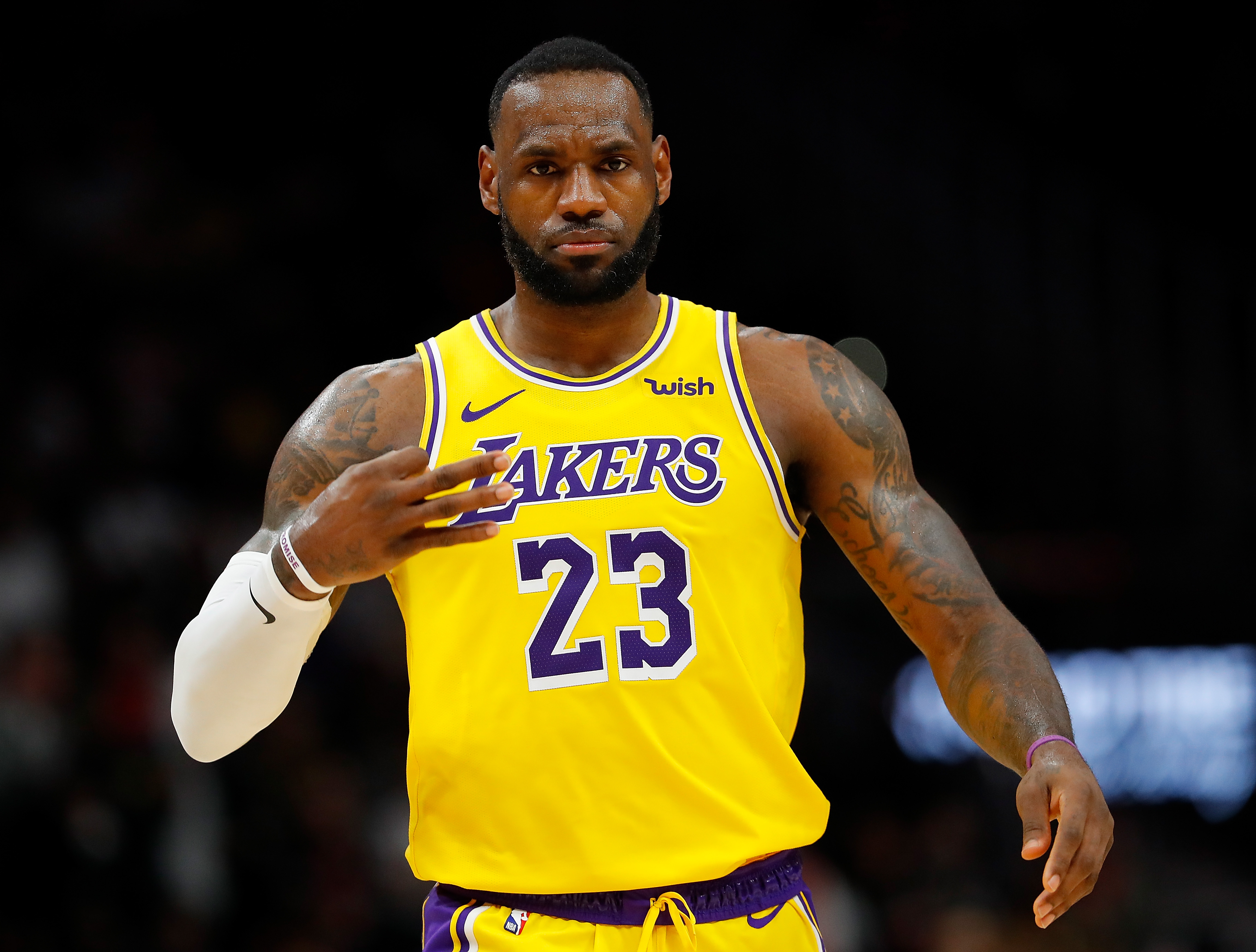LeBron James of the Los Angeles Lakers.