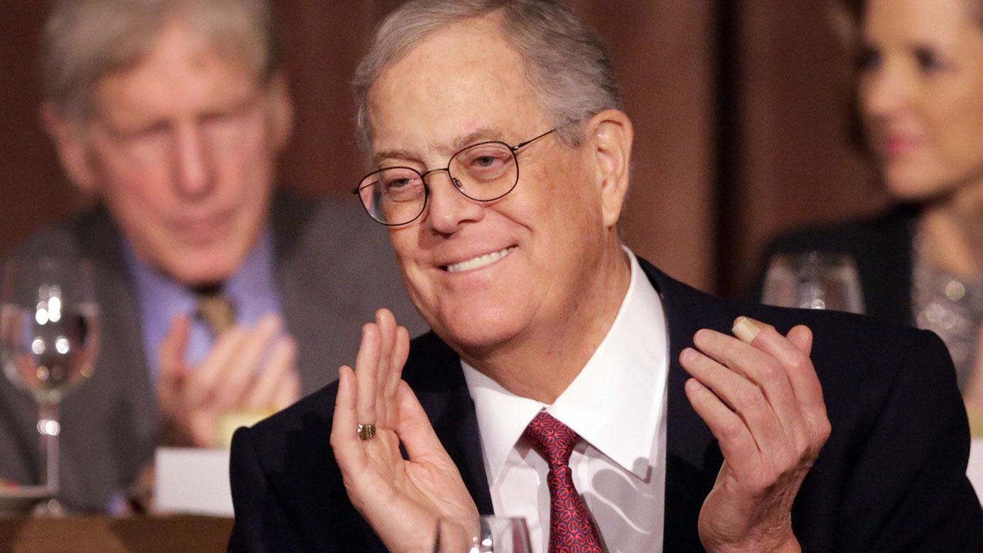 US billionaire David Koch dies, aged 79