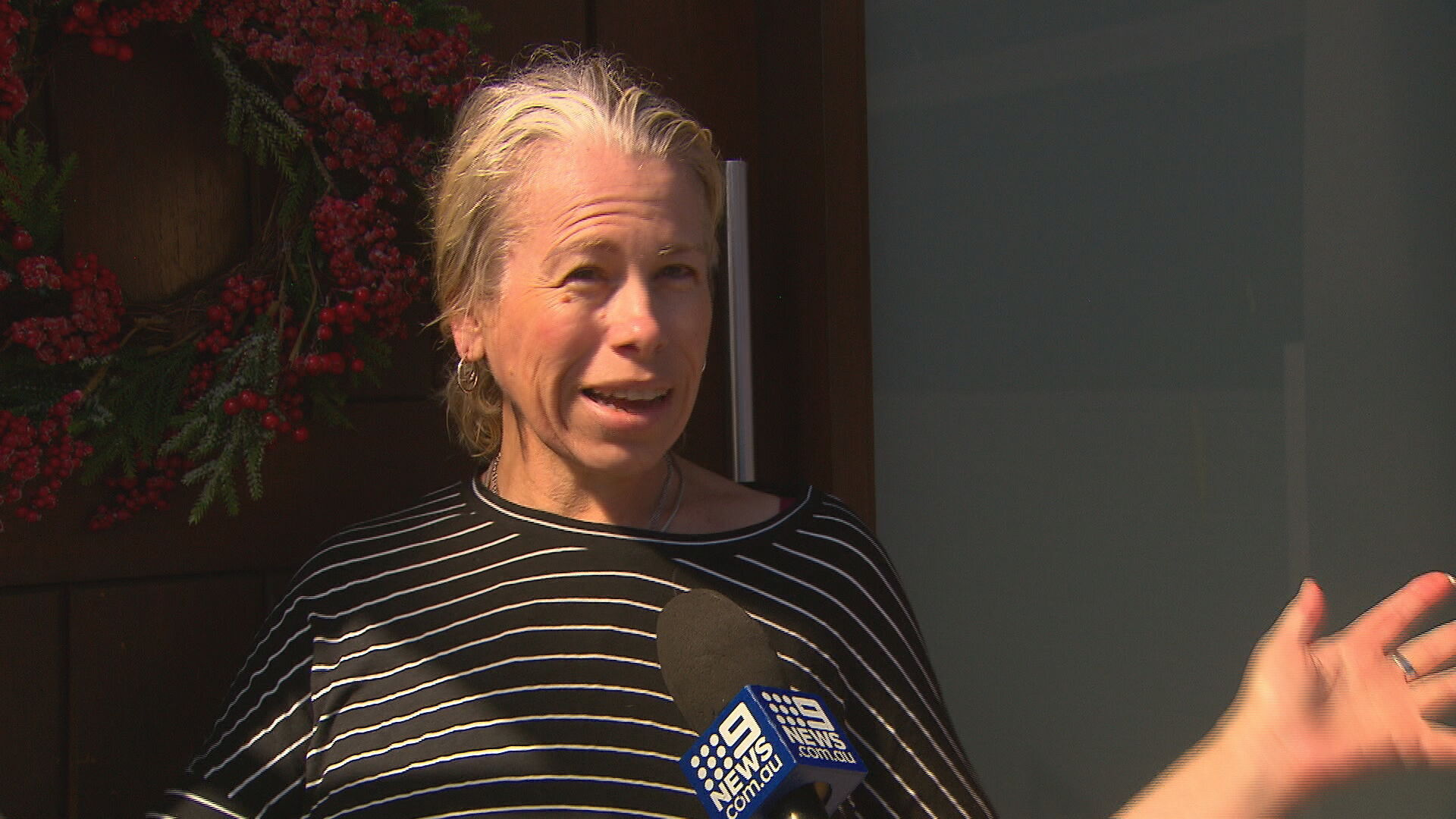 """""""There was snow, like asbestos over the whole house,"""" resident Linda Amoah told 9News."""