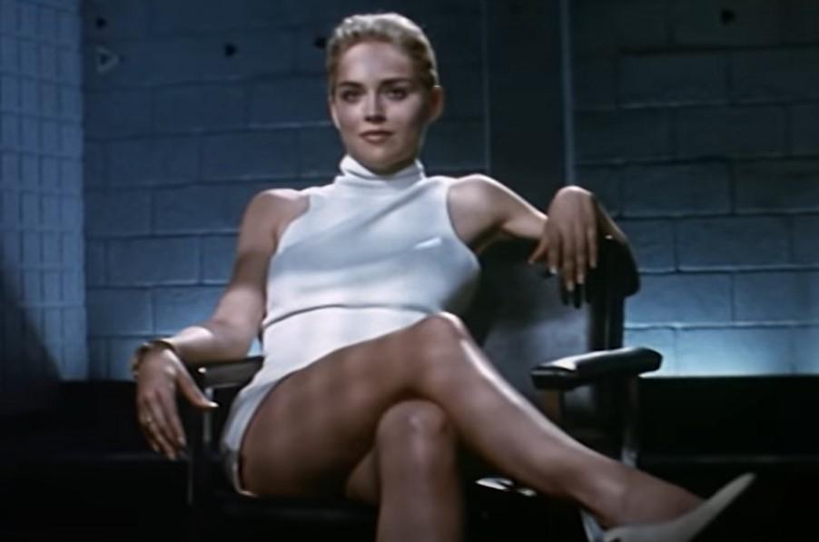 Sharon Stone, Basic Instinct, infamous scene, white dress