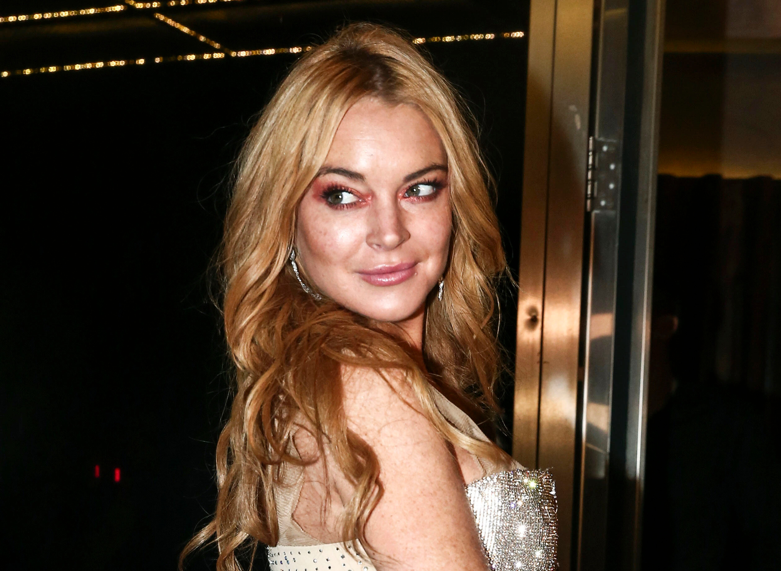Lindsay Lohan, opening night, Lohan Nightclub in Athens, Greece