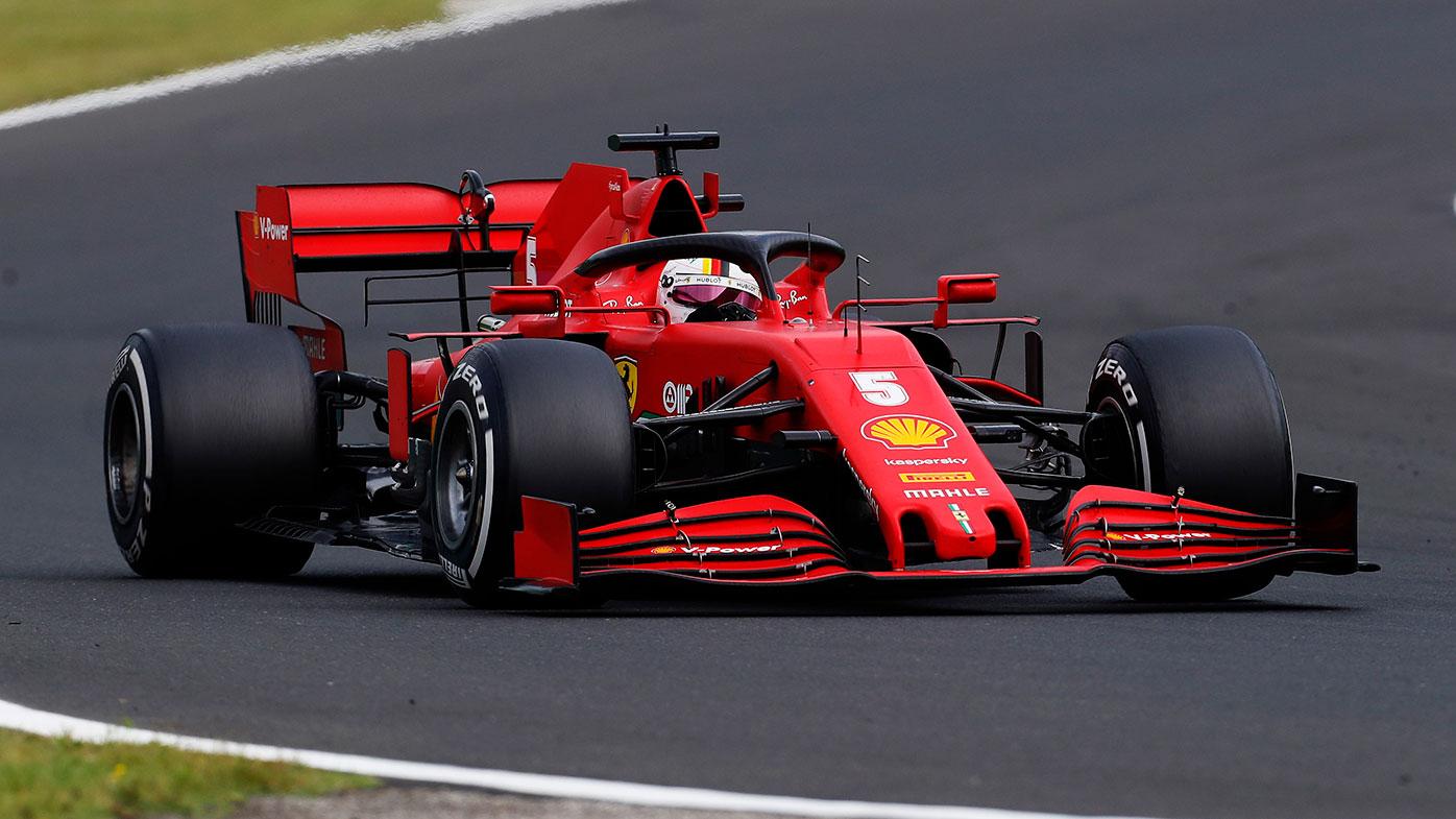 Sebastian Vettel in action at the Hungarian Grand Prix.