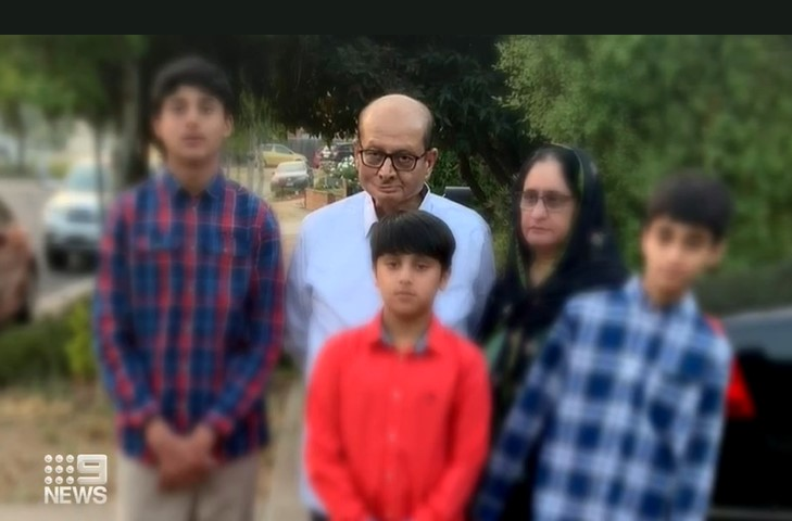 Ms Khatoon spent four days with her dying father (centre) in India before his death.