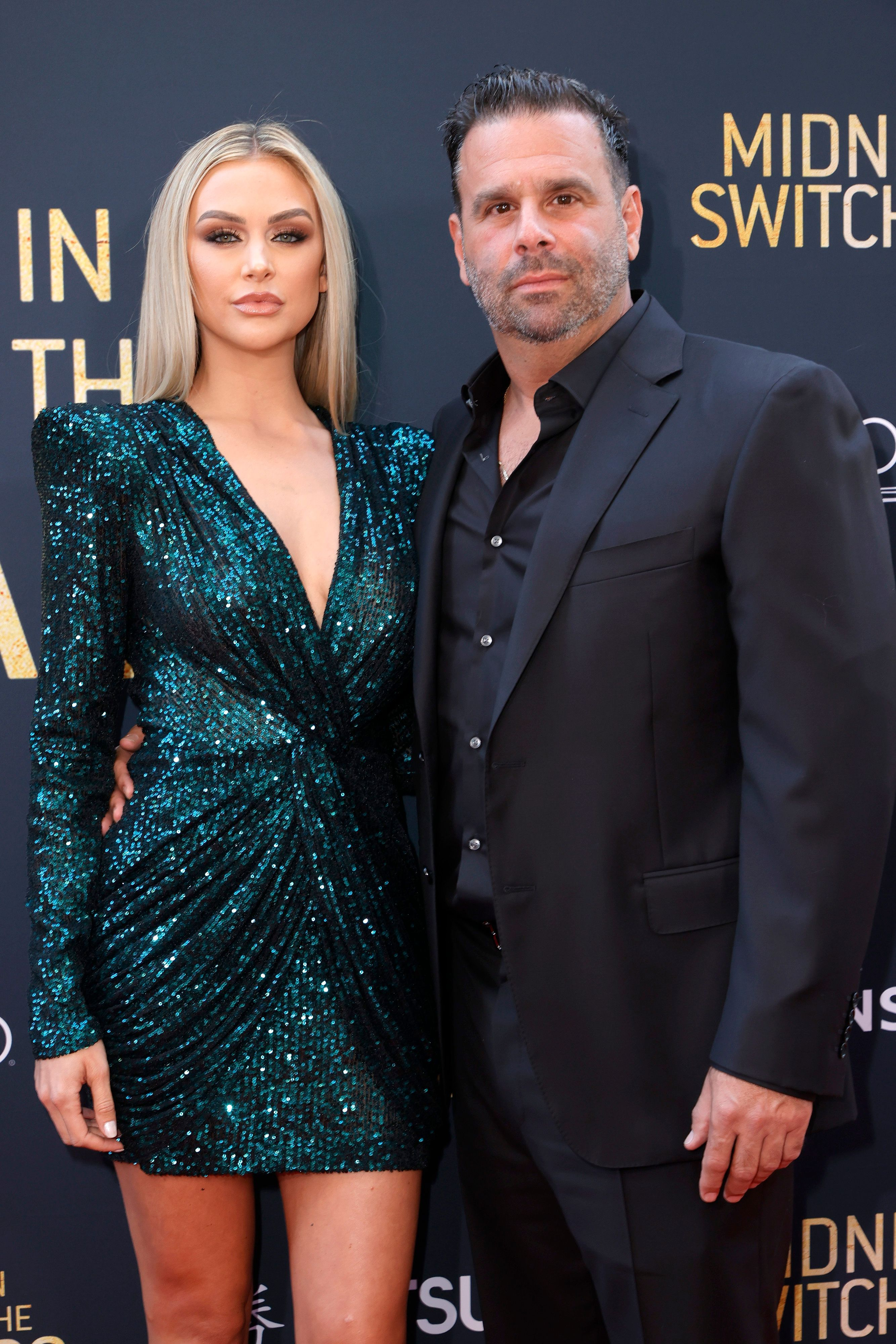 """Lala Kent and Randall Emmett attend the Los Angeles special screening of Lionsgate's """"Midnight in the Switchgrass"""" at Regal LA Live on July 19, 2021 in Los Angeles, California."""