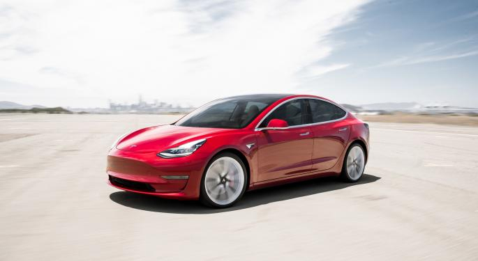 Daniel Pearce said his father had only received the $110,000 red Tesla 3 Performance (similar model photographed here) just before Christmas.