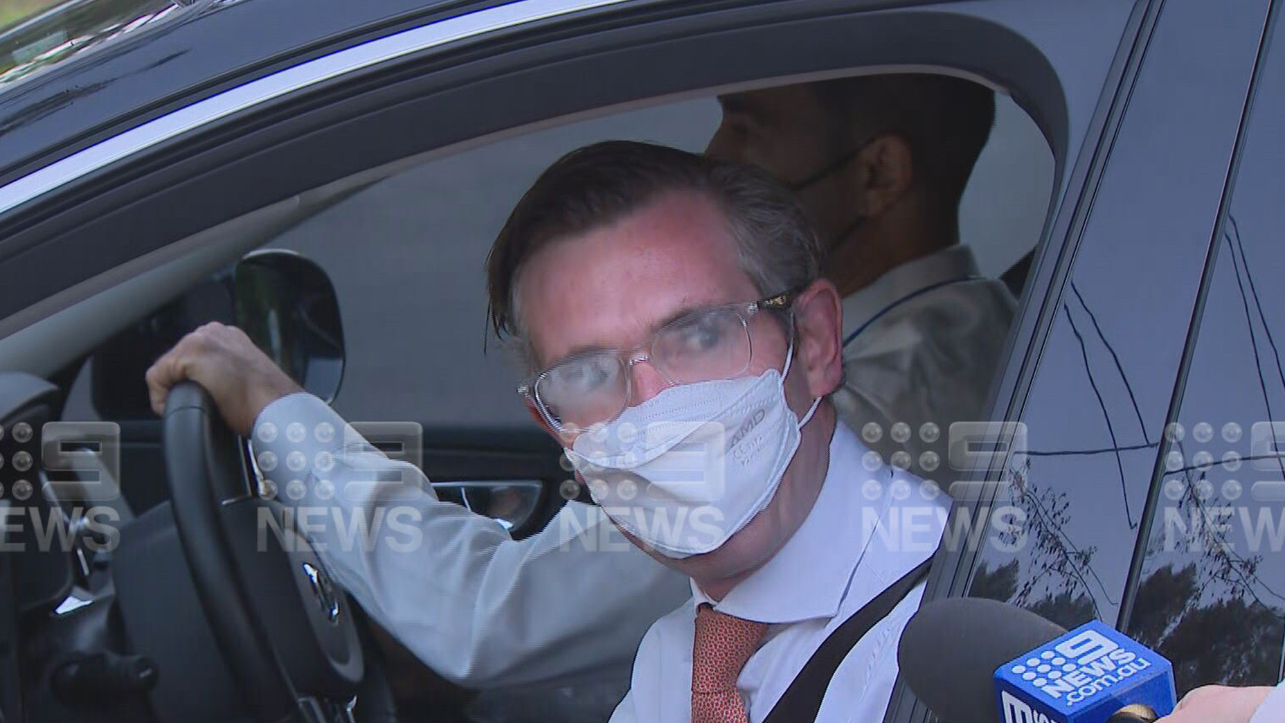 New NSW Premier Dominic Perrottet is on his way to work.