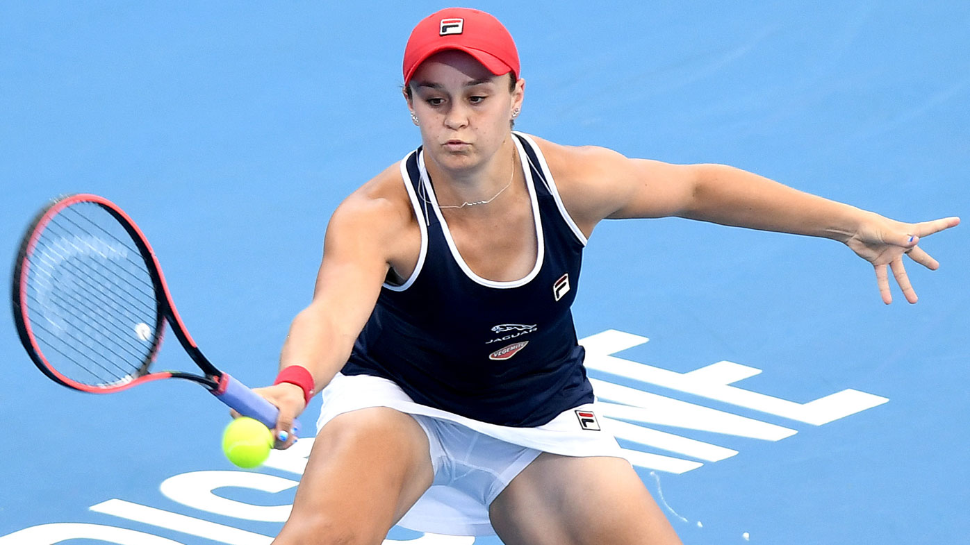 Ash Barty party doesn't last long at Brisbane International