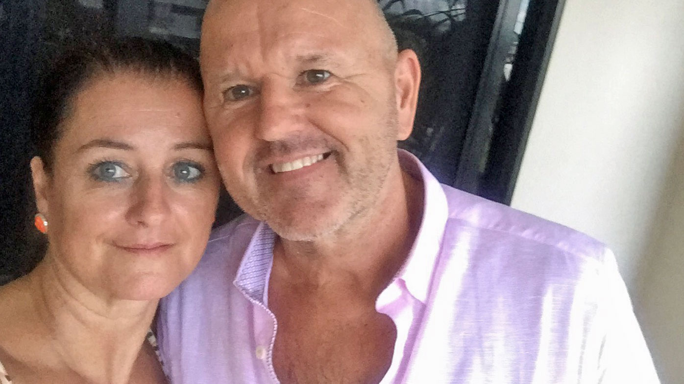 Terry and Carl Delaney had been living in Darwin for five years when he was killed in a workplace accident.
