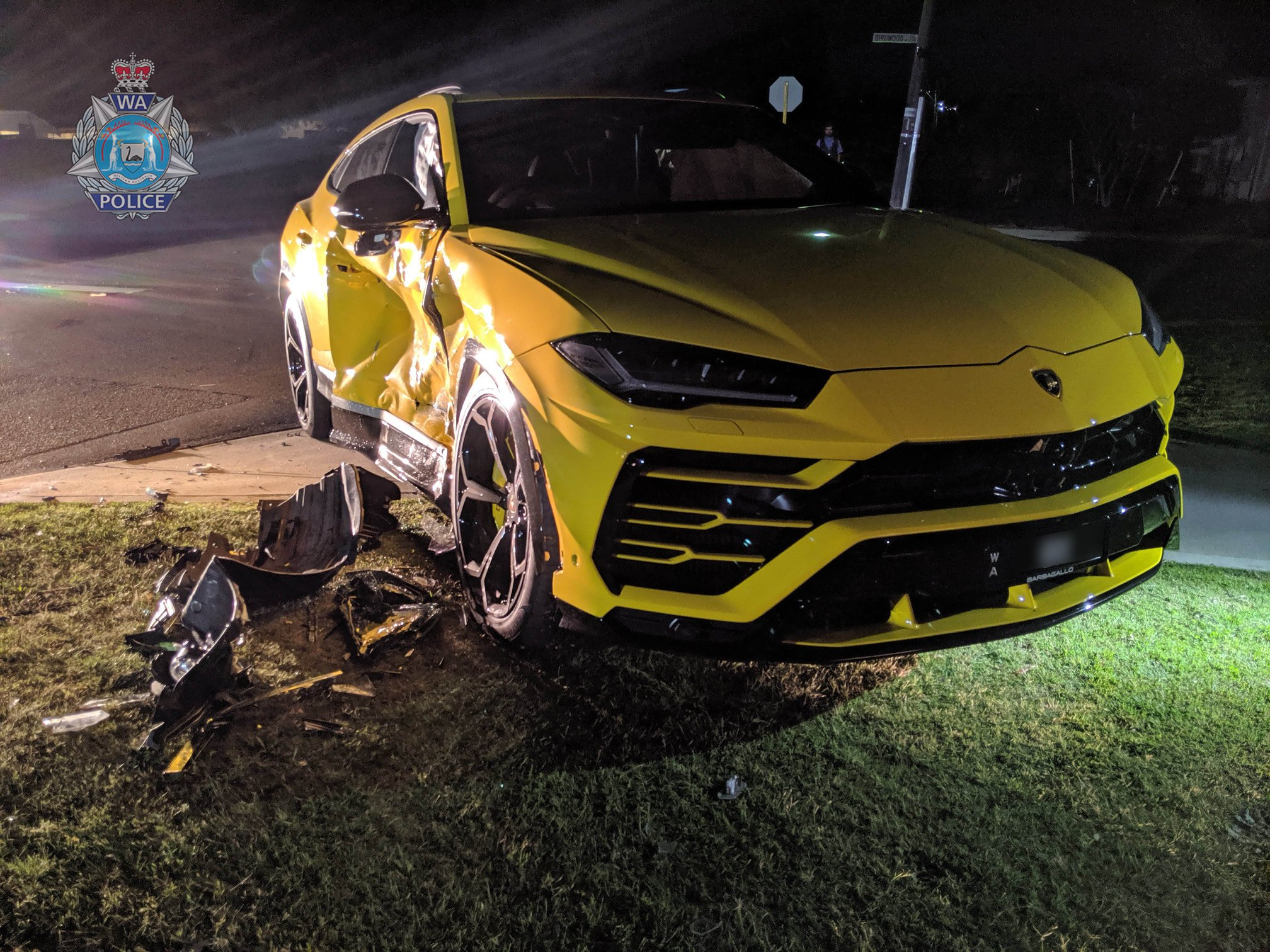 Teen crashes stolen vehicle into Lamborghini