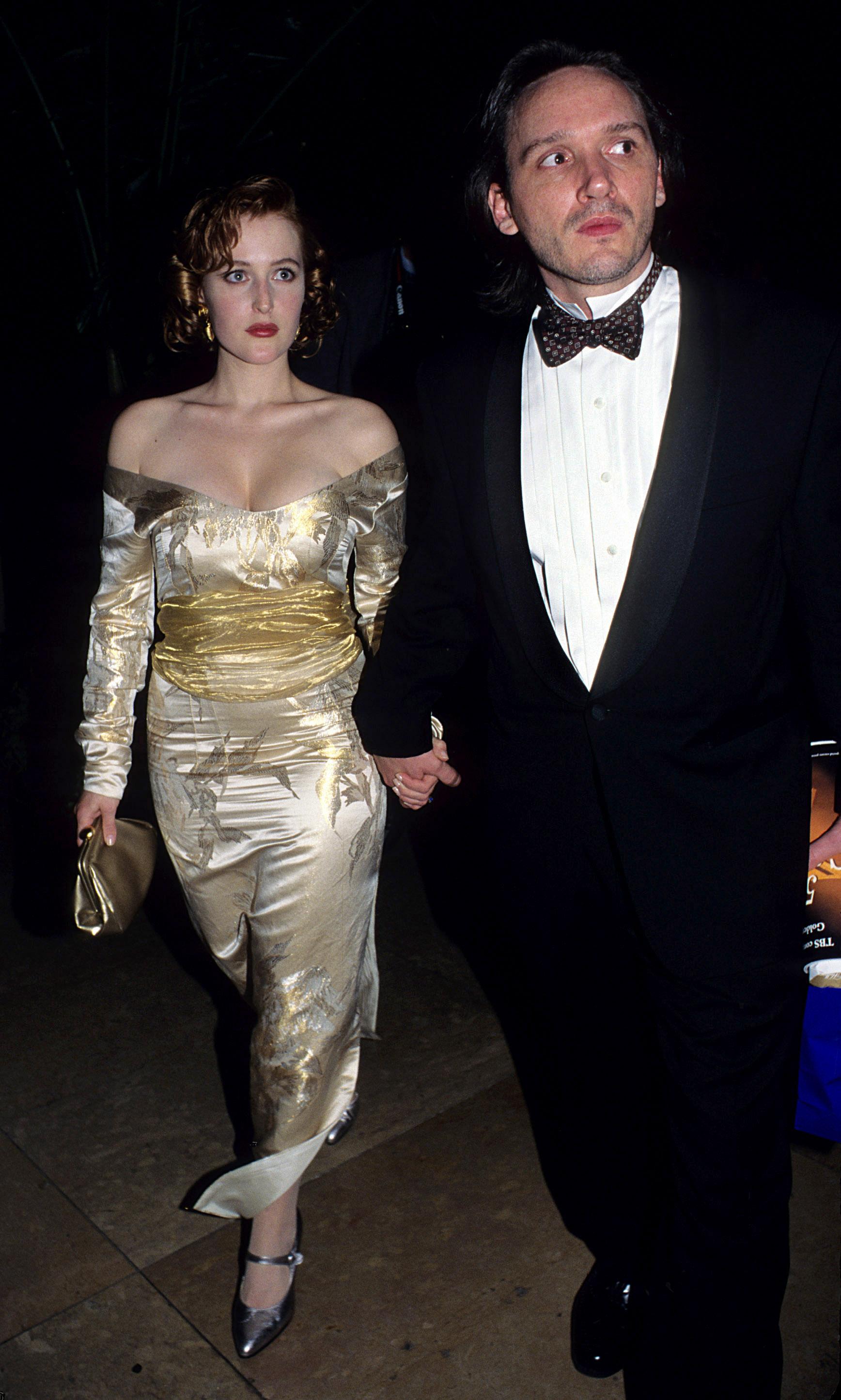 Gillian Anderson, husband Clyde Klotz, Golden Globe Awards, 1995