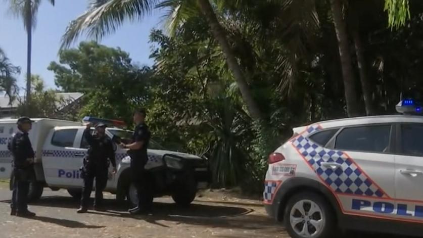 Police at the Mackay Beach