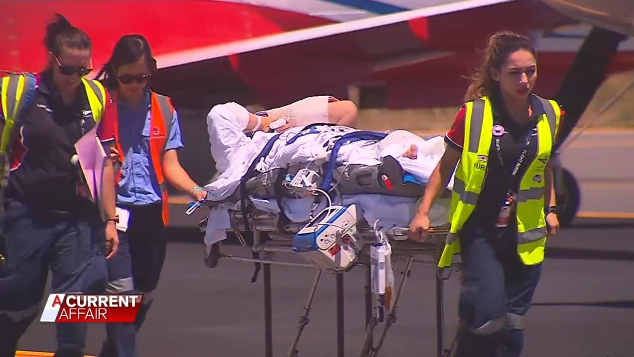 Hero pilot's desperate bid to walk again