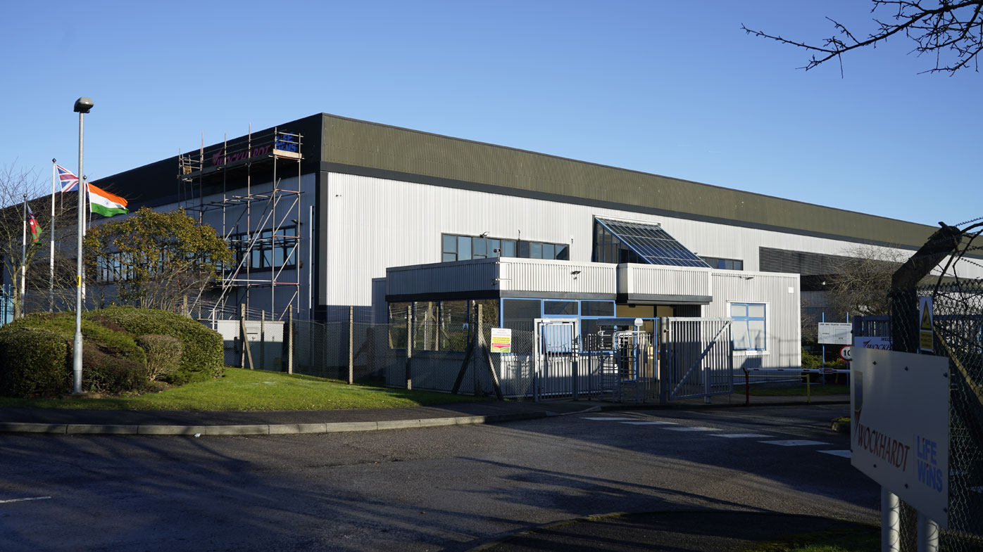 A view of the Wockhardt pharmaceutical manufacturing facility on Wrexham Industrial Estate on January 21, 2021 in Wrexham, Wales.