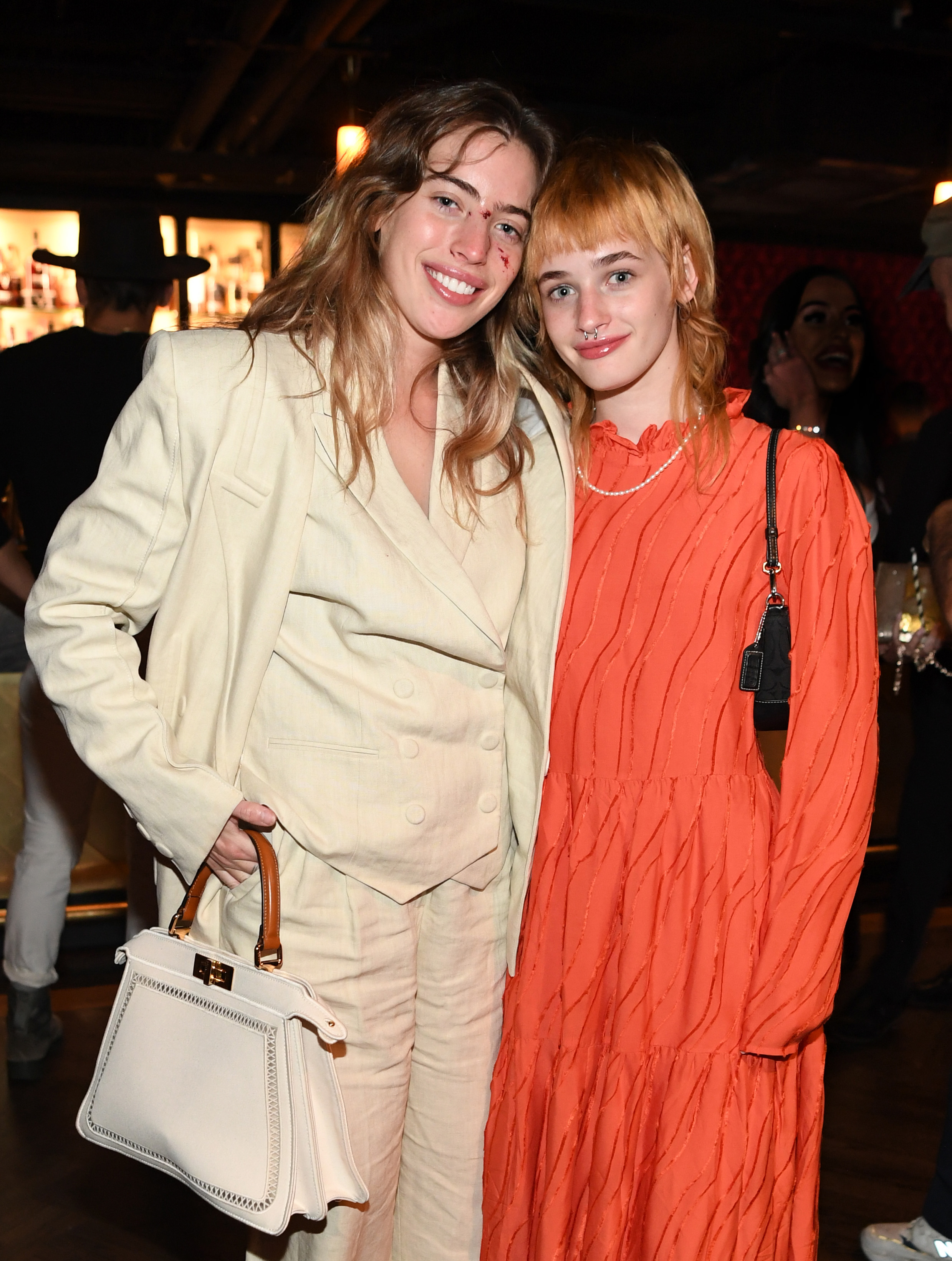Clara McGregor and sister Esther McGregor attend the world premiere of The Birthday Cake at The Mob Museum on June 11, 2021 in Las Vegas, Nevada.