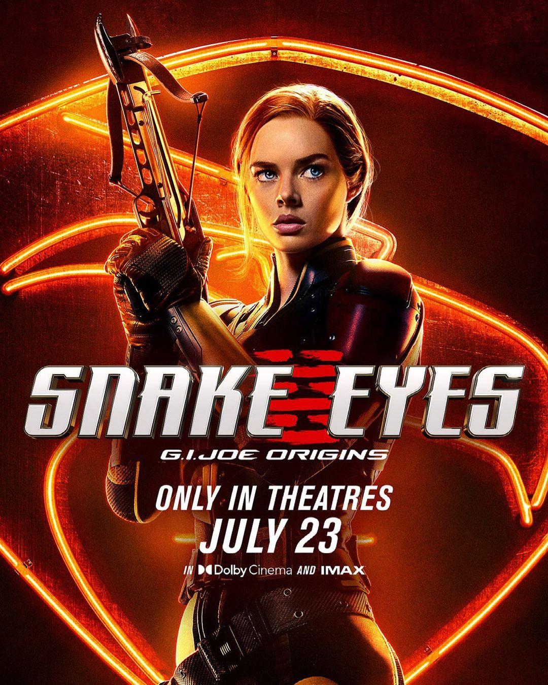 Samara Weaving plays Scarlett in Snake Eyes: G.I. Joe Origins.