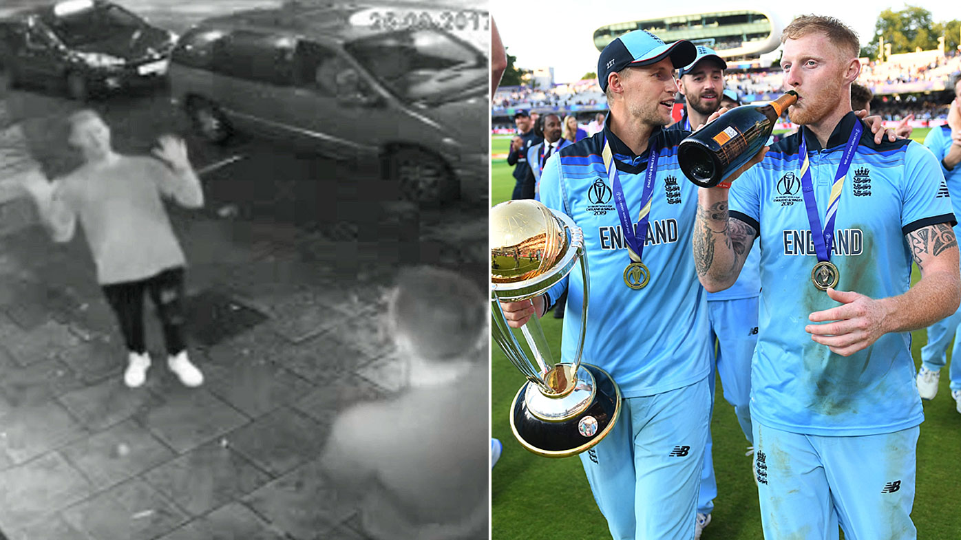 In 2017 Stokes captured on CCTV with Alex Hales outside the Mbargo nightclub in Bristol and in 2019 celebrating winning the Cricket World Cup.