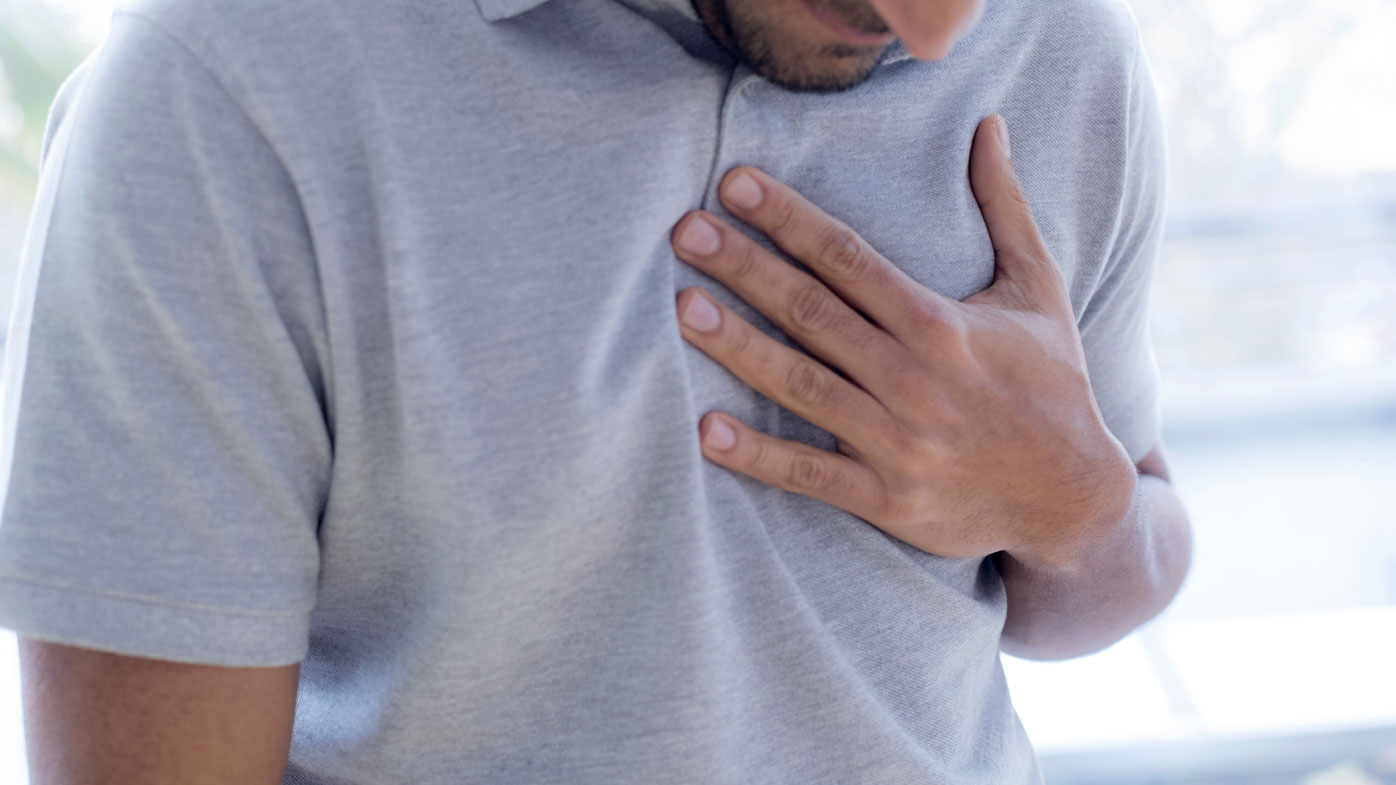 Chest pain is not the only sign of a a heart attack. stock file medical