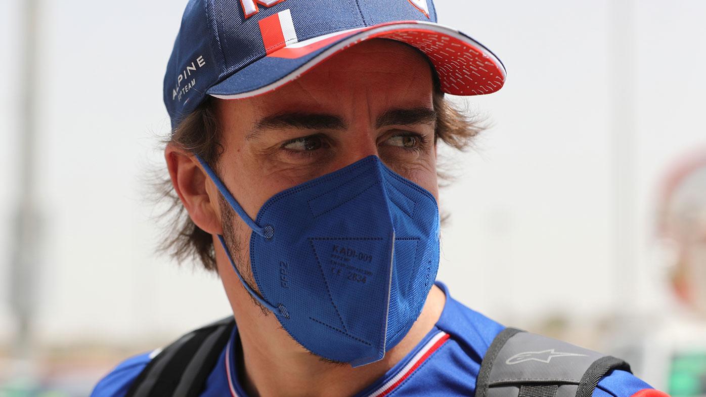 Fernando Alonso ahead of his F1 return at the Bahrain Grand Prix.