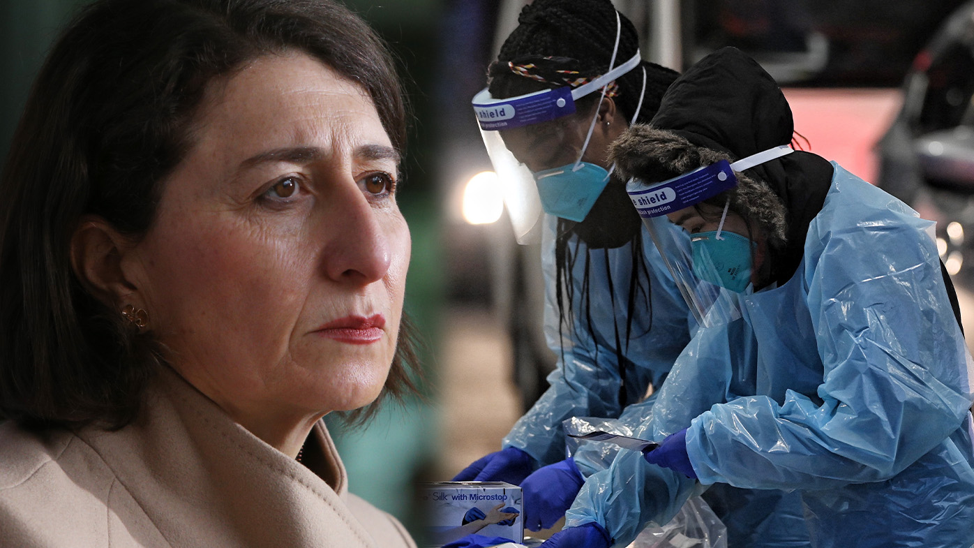 Record daily cases in NSW today with 124 new infections